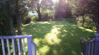 My backyard shul-away-from-shul.