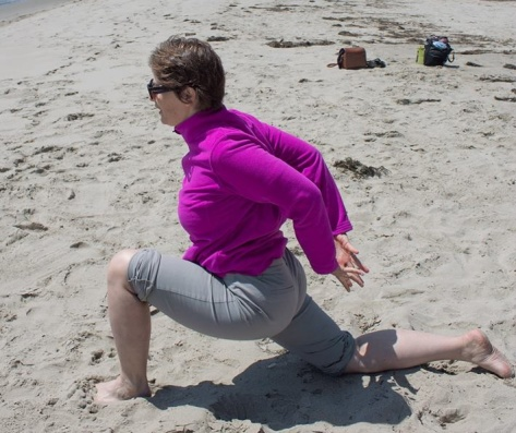 beach yoga crop